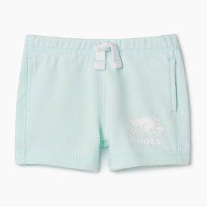 Roots80%棉宝宝短裤