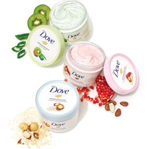 4罐装¥131补货:Dove 冰淇淋沐浴身体磨砂膏 225ml