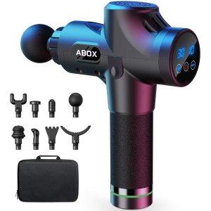 $59.99(原价$159.99)史低价:ABOX 升级版 深层肌肉放松 8头筋膜枪/按摩枪 30速可调