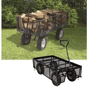 Strongway Steel Jumbo Garden Wagon — 1400-Lb. Capacity, 48in.L x24in.W