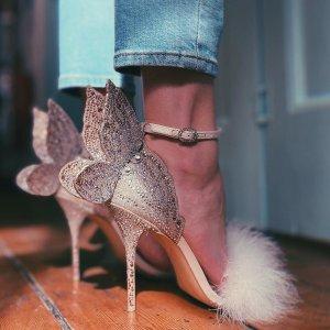 无门槛7.5折+直邮中国有税补Sophia Webster 仙女蝴蝶鞋闪促 出逃公主必备款
