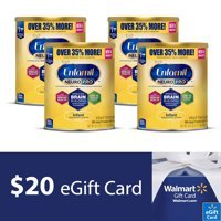 Free $20 Walmart eGift Cardwith Purchase of 4 Enfamil NeuroPro Baby Formula Value Cans @ Walmart