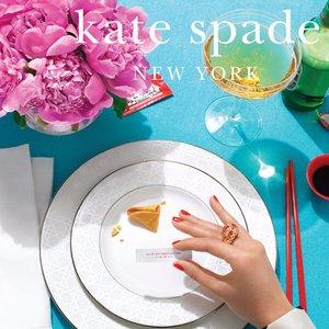 低至3折+额外7.5折Kate Spade New York 高颜值餐具家居好物清仓热卖