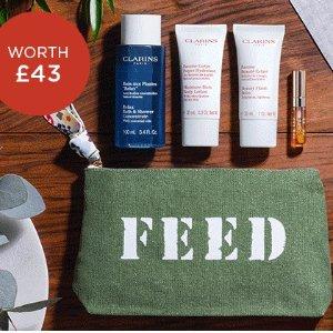 满£70送联名礼包+捐10份学生餐Clarins X FEED 娇韵诗联名慈善活动 让每个孩子都能吃饱饭