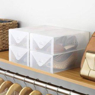 $6.98 (原价$20.99)Whitmor 透明鞋盒4件套
