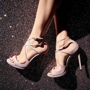 低至5折 €350收银色星光高跟Jimmy choo 年中大促 如果只能拥有一双高跟鞋 那只能是它了
