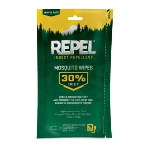 Repel Insectlent Mosquito Wipes 30% DEET, 15-ct