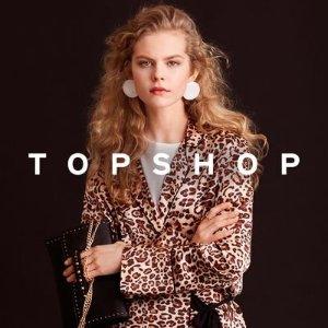 4折起+免邮  $15收牛仔短裤折扣升级:Topshop 明星博主同款美衣特卖 平价时髦超给力