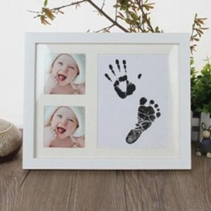 $1.69起 包邮新生儿手脚印纪念相框套装 Baby Shower好礼物