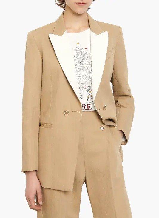 米色西装外套