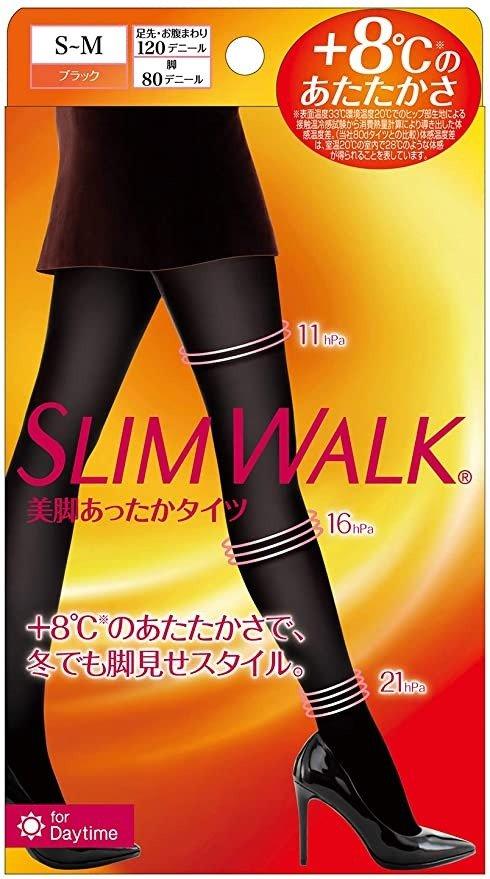 SLIM WALK 美腿保暖紧身裤 黑色 压力紧身裤