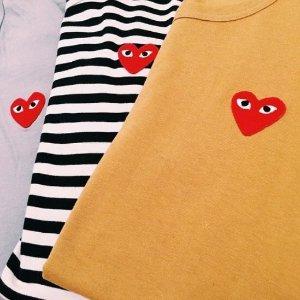 3折起 爱心T恤$39起闪购:川久保玲 小爱心捡漏 卫衣、针织衫、衬衣 这里最划算