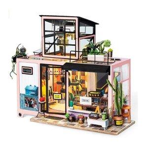 6.5折 低至$24.04Rolife 迷你粉色音乐工作室、客厅、带露台的书房