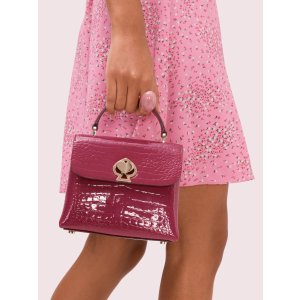 Kate Spade封面同款粉色鳄鱼包包