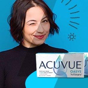 """一副镜片2种用途上新:Acuvue 隐形眼镜秒变""""墨镜"""" 变色黑科技防紫外线蓝光"""