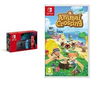 仅售337.39 可邮寄英国Prime Day:Nintendo Switch 红蓝机+动森游戏卡好价收 快抢