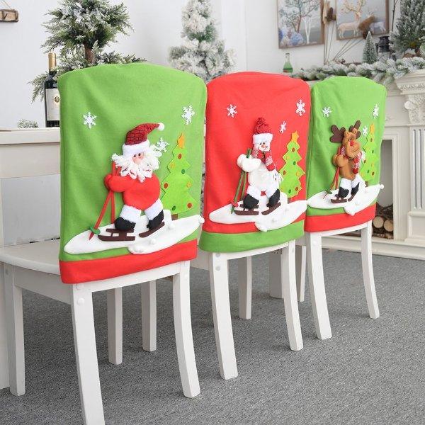 圣诞椅子装饰