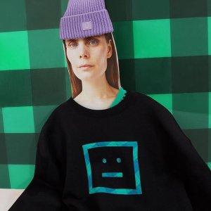 囧脸超大Logo短袖仅£170Acne Studios 囧脸超大Logo卫衣终于上市 男款也有