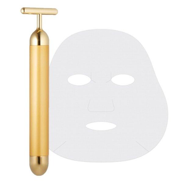BEAUTY BAR 24K黄金棒+CELLA COSMETICS18片面膜纸 限定套装