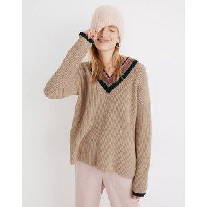 MadewellTipped Forrest V-Neck Sweater