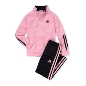 Adidas(Girls 4-6x) Two-Piece Pink Track Jacket & Tricot Pants Set