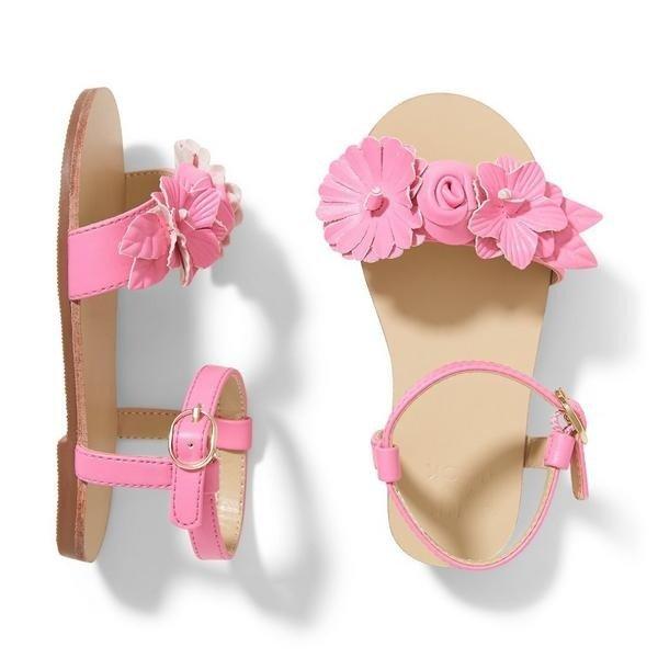 女童花朵凉鞋