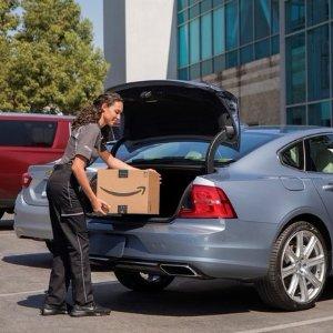 包裹跟着你车跑,想丢也丢不了Amazon Prime会员全新福利:送货到你车