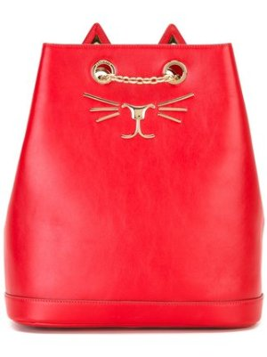 Charlotte Olympia Feline Embroidered Backpack $1,468 - Buy Online - Mobile Friendly, Fast Delivery, Price