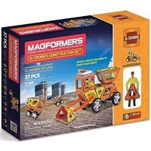$39.97 (原价$79.99)史低价:Magformers XL Cruisers 建筑车益智磁力积木37件套
