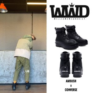 Converse陈伟霆同款 Ambush 联名靴-黑色