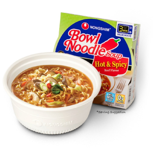 $3.92Nongshim Bowl Noodle Soup, Hot & Spicy (Pack of 4)