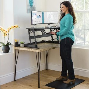 $109.9936in 2-Tier Height Adjustable Standing Tabletop Desk Riser @ Best Choice Products
