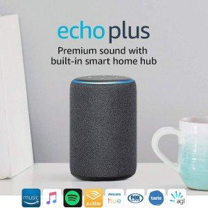 $114.5(原价$229)Prime day:Echo Plus 智能家居中枢 2代