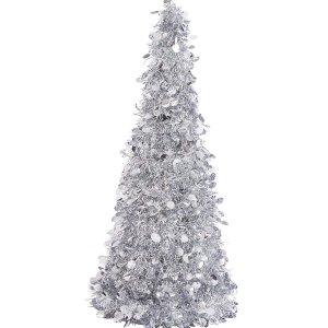 现价$19.76(原价$45.57)史低价:Amazon 银色餐桌圣诞树 仙女圣诞趴美照必备