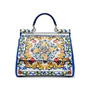 ccbf21ed Dolce & GabbanaSicily medium printed textured-leather shoulder bag