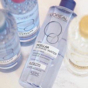 $10.42(原价$18.3)L'Oreal 欧莱雅温和卸妆水特卖 敏感肌适用