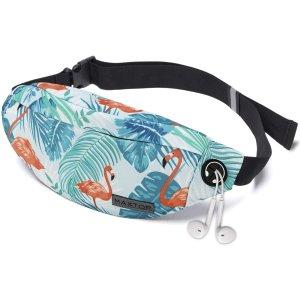 低至7折 拉链腰包仅$6.99起MAXTOP 印花腰包 百搭方便 隐藏收纳容量大 自带耳机孔