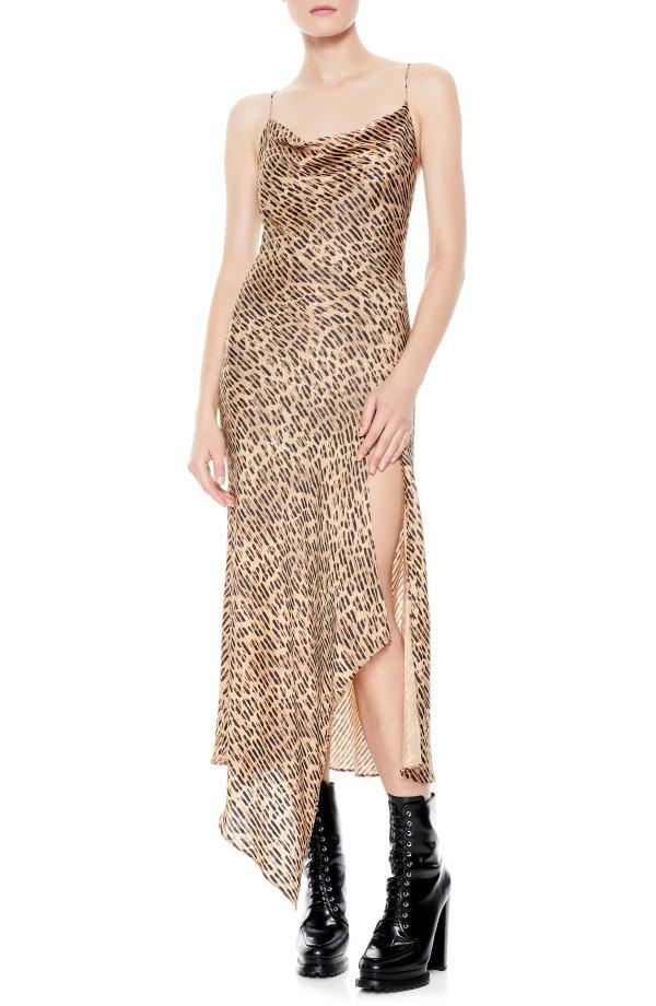 豹纹印花裙