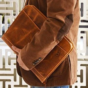 Today Only: RFID Protected Leather Portfolio by Aaron Leather