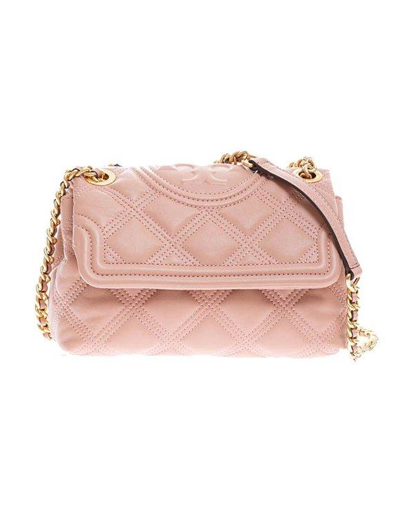 粉色菱格链条包