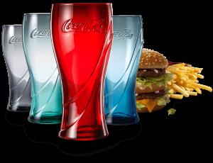 仅限Walmart店内餐厅McDonald's 麦当劳 买套餐送Coca-Cola限量玻璃杯