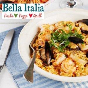 4折 2 Course Meal!Bella Italia 双人套餐团购 £18 (原价£41.96 )