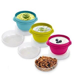 $2.97 (原价$18.61)Rubbermaid 1.2 Cup 食物储藏盒 - 3个装