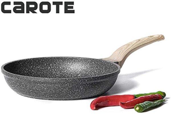 麦饭石不粘煎锅 8英寸
