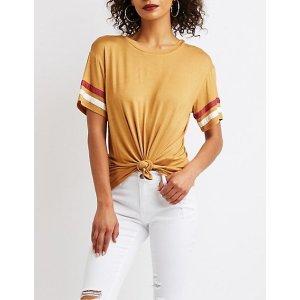 Charlotte RusseVarsity Striped T恤