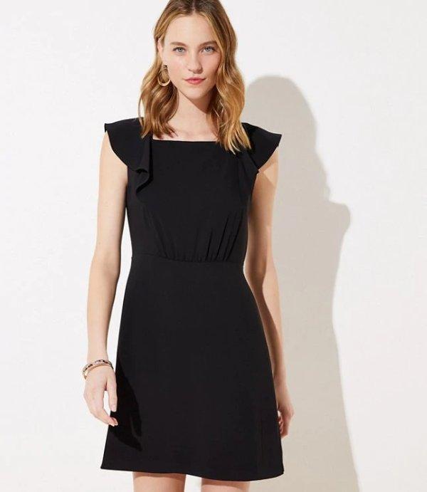 荷叶边小黑裙