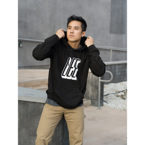 Men's Heritage Lee Graphic Hoodie in Black