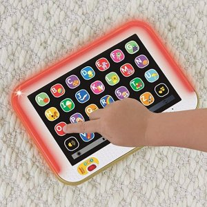 Fisher-Price Laugh & Learn Smart Stages Tablet, Gold @ Amazon