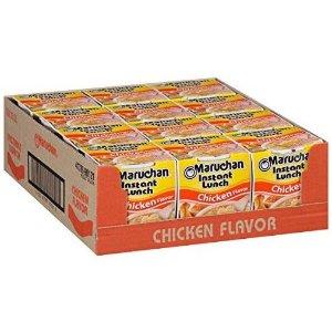 $3.84史低价:Maruchan 鸡肉味速食杯面 2.25oz 12盒