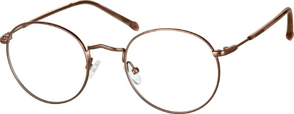古铜圆形眼镜